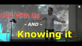 God with us and not knowing it