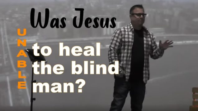 Was Jesus unable to heal the blind man?